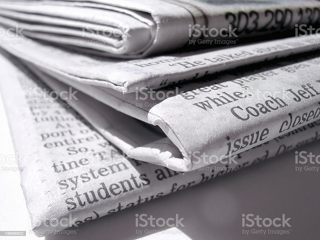 Arvada Papers royalty-free stock photo