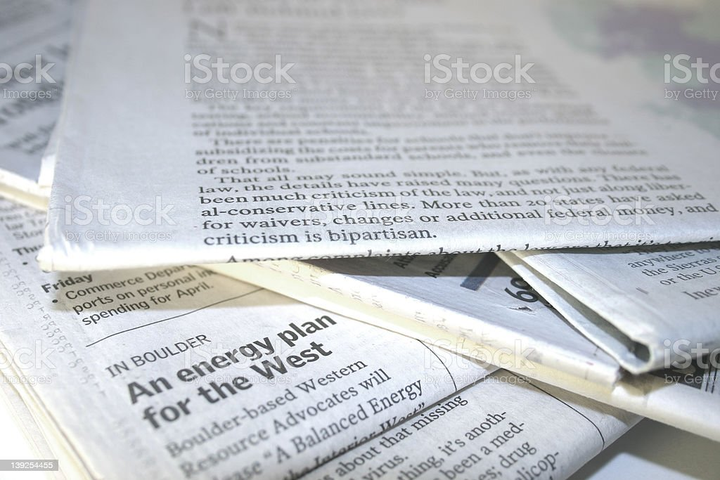 Arvada Papers stock photo