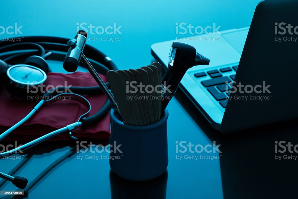 Arzt, Praxis Schreibtisch stock photo