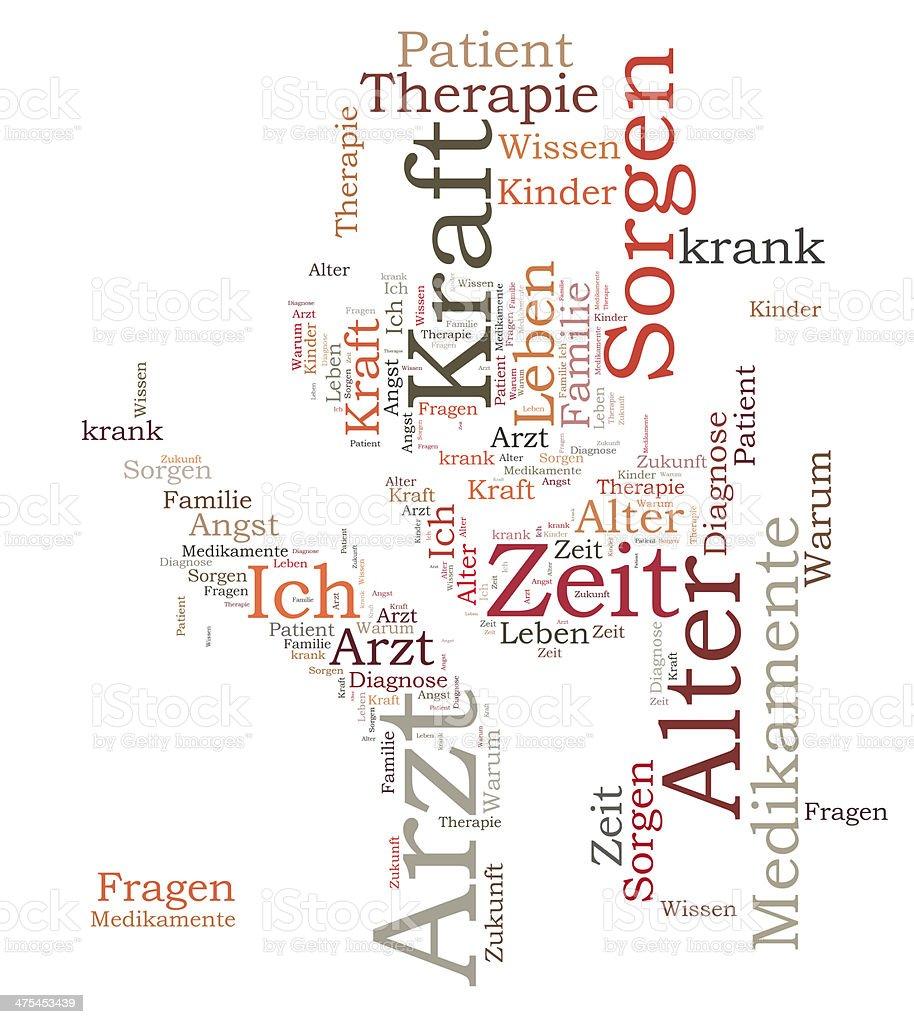Arzt word cloud stock photo
