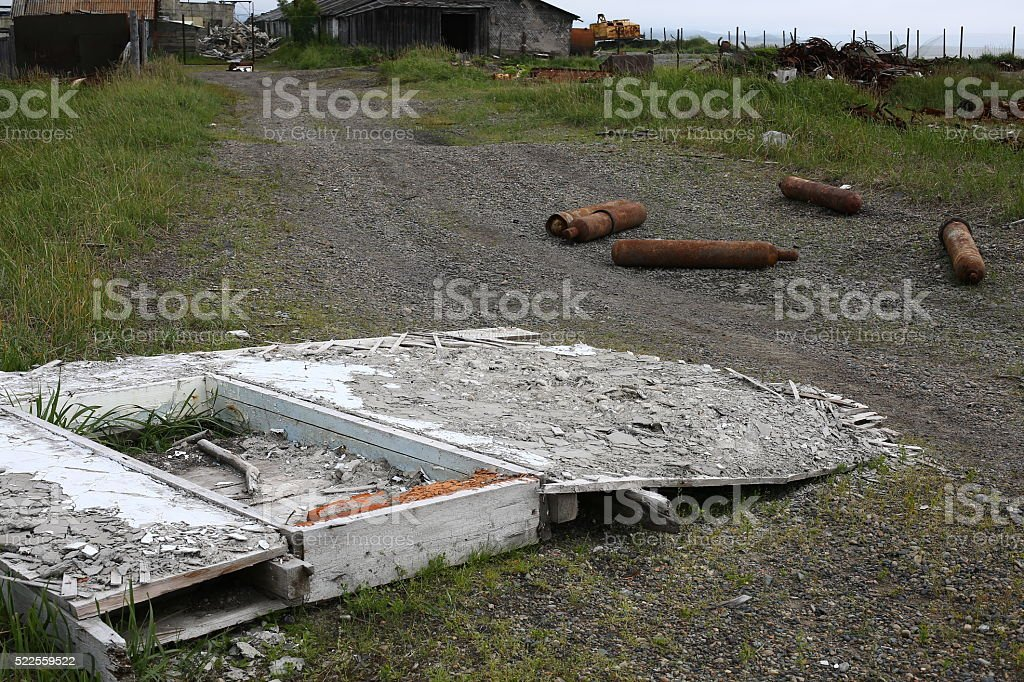 As after a natural disaster stock photo