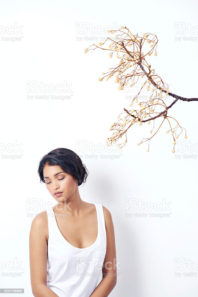 As beautiful as spring itself stock photo