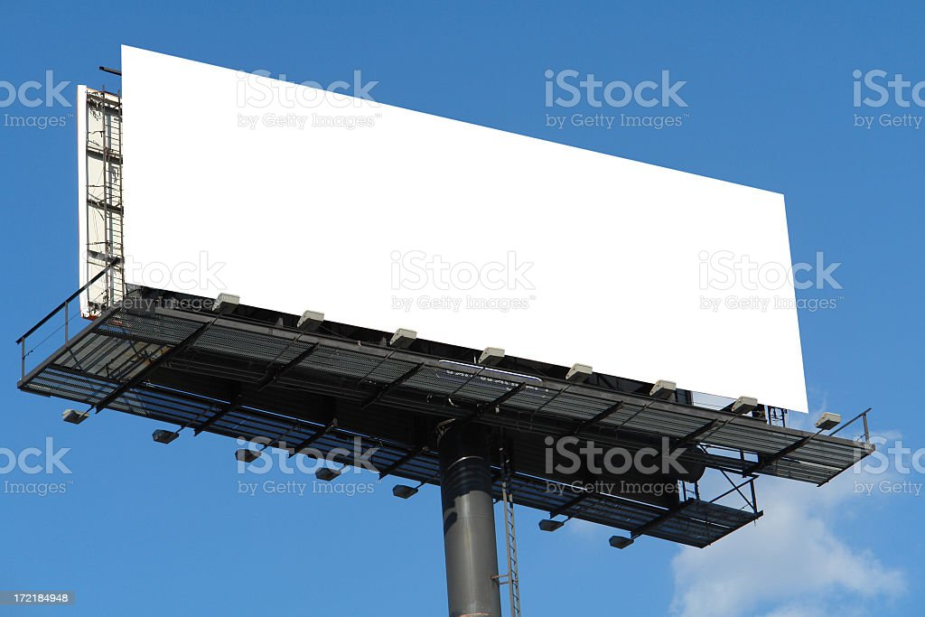 BIG - As in Billboard-blanked stock photo