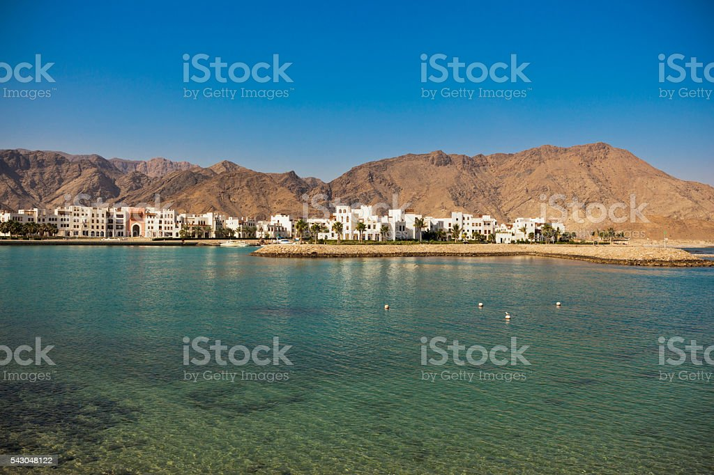 as sifah bay oman stock photo