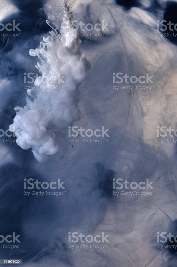 As the shape of the paint spray cloud stock photo