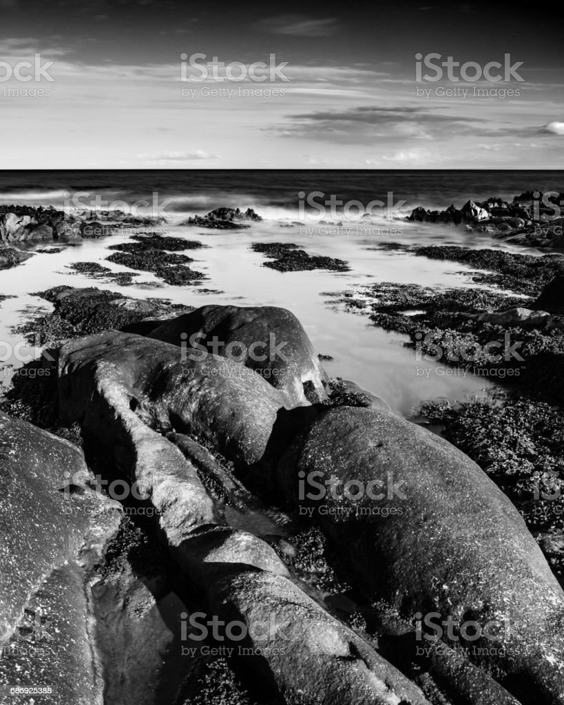 As the tide rolls in. stock photo
