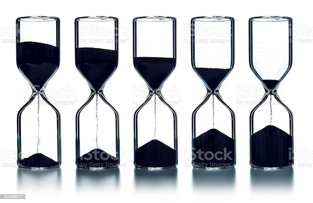 As times goes by sequence stock photo