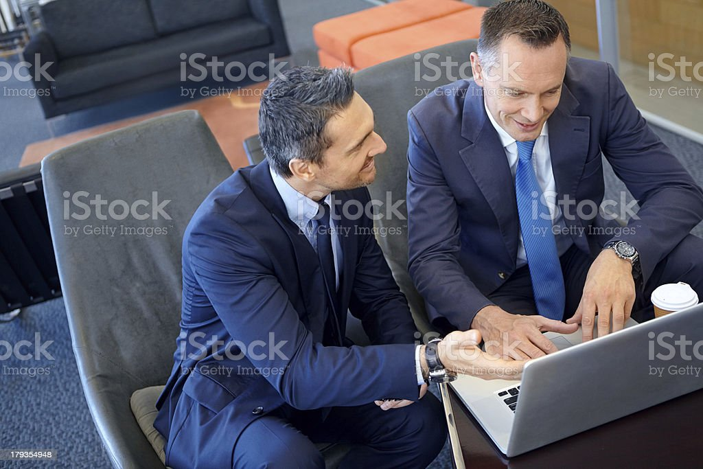 As you can see, share prices are on the increase.. royalty-free stock photo
