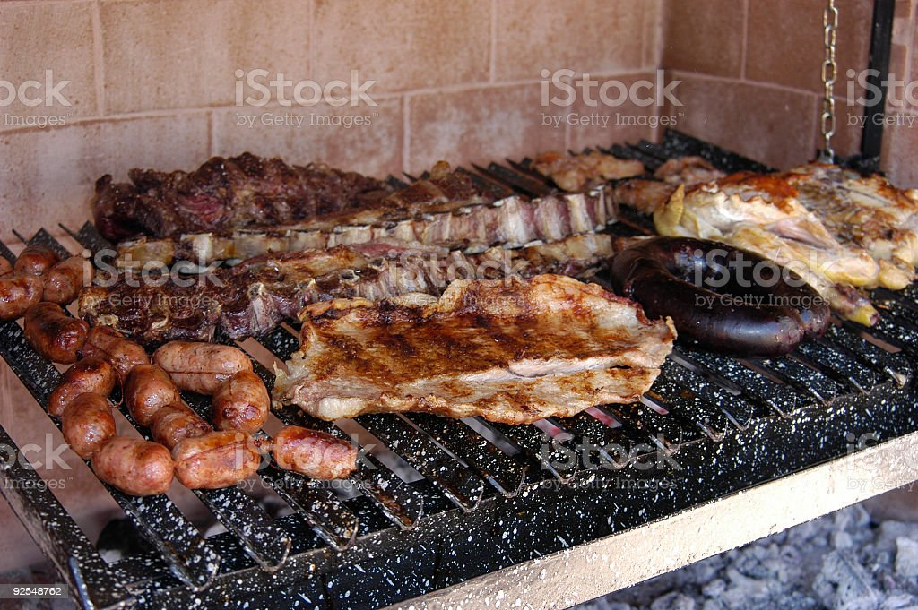 Asado argentino, barbeque, bbq stock photo