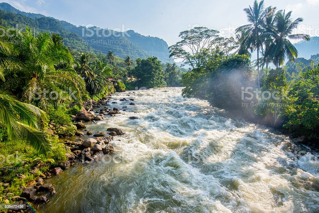 Asahan River stock photo