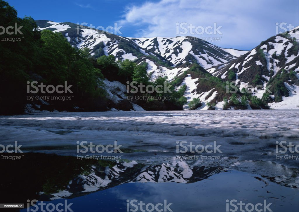 Asahi mountain range stock photo