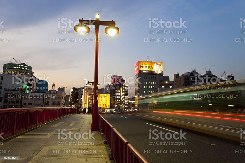 Asakusa by Night, Tokyo stock photo