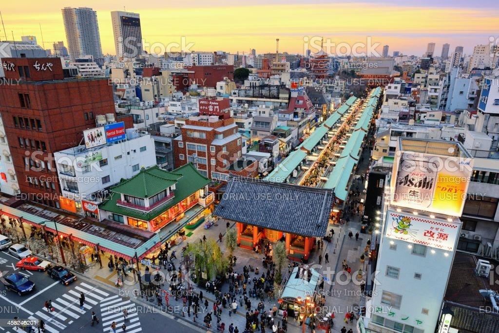 Asakusa District of Tokyo, Japan royalty-free stock photo