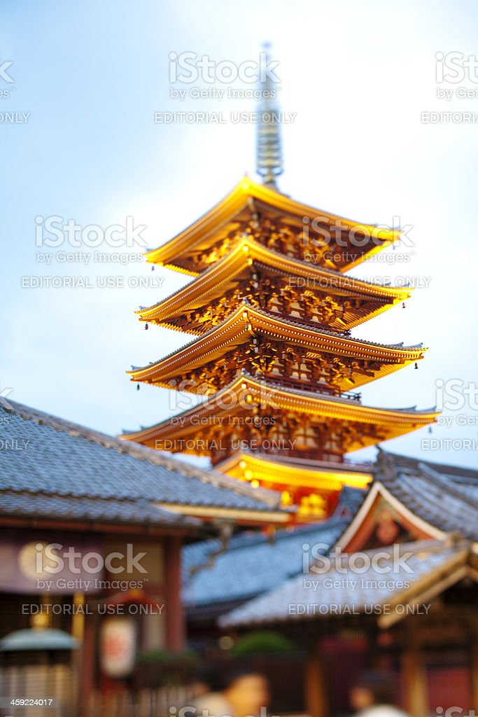 Asakusa Kannon Temple buildings. stock photo