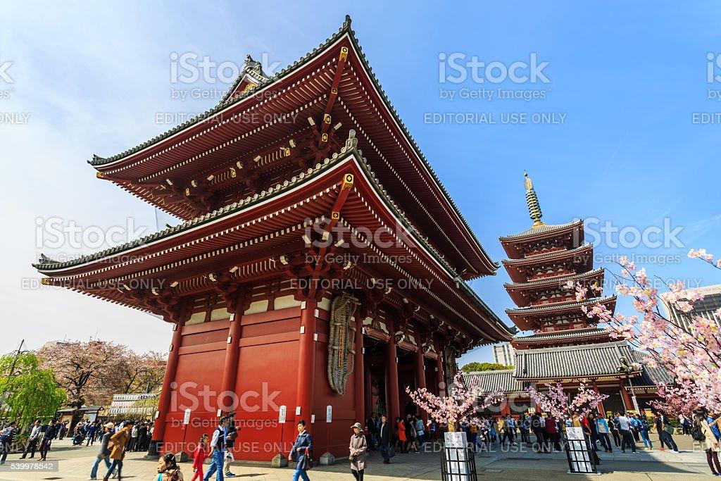 Asakusa Kannon Temple. stock photo