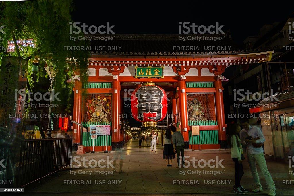Asakusa Kannon temple - Tokyo ,Japan royalty-free stock photo