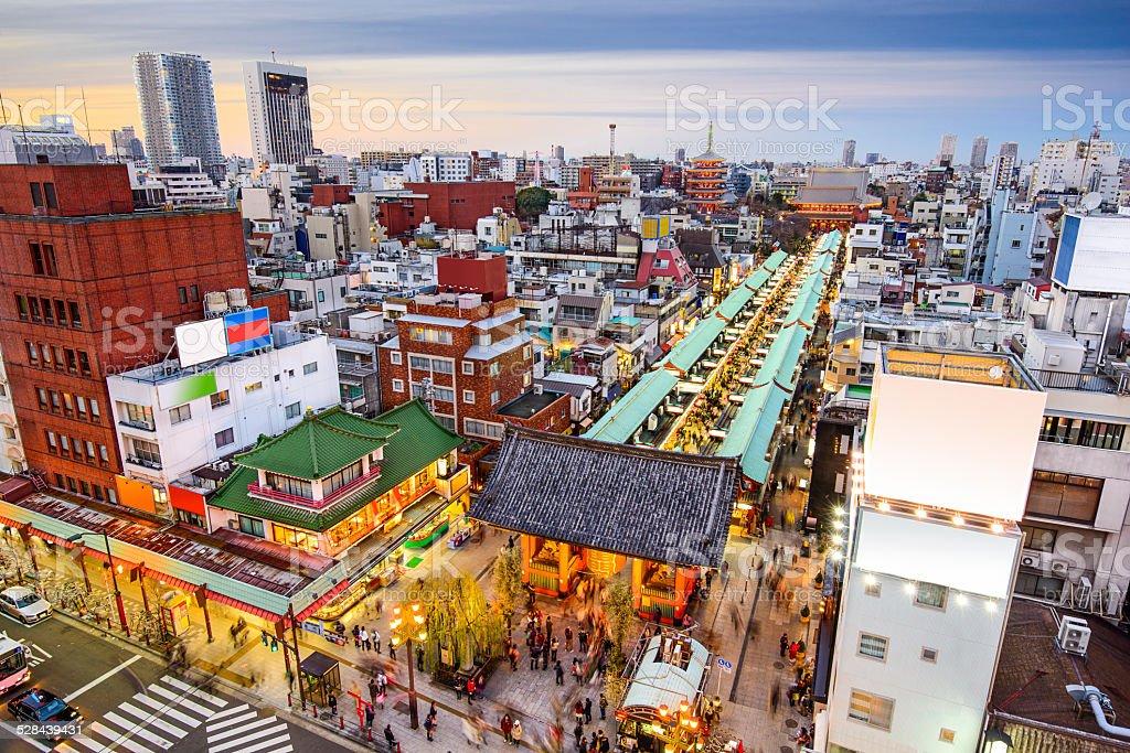 Asakusa, Tokyo, Japan Cityscape stock photo