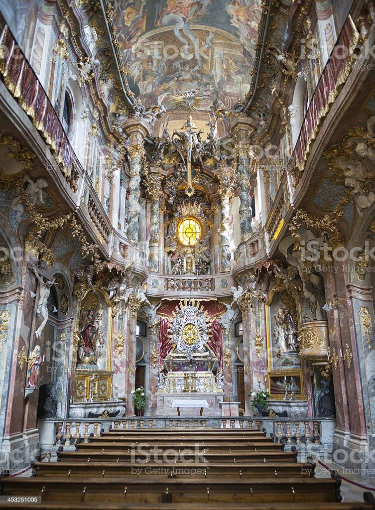 Asam Church, Asamkirche, Munich stock photo