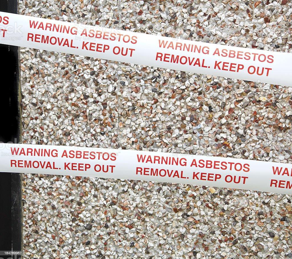 asbestos cordon tape royalty-free stock photo
