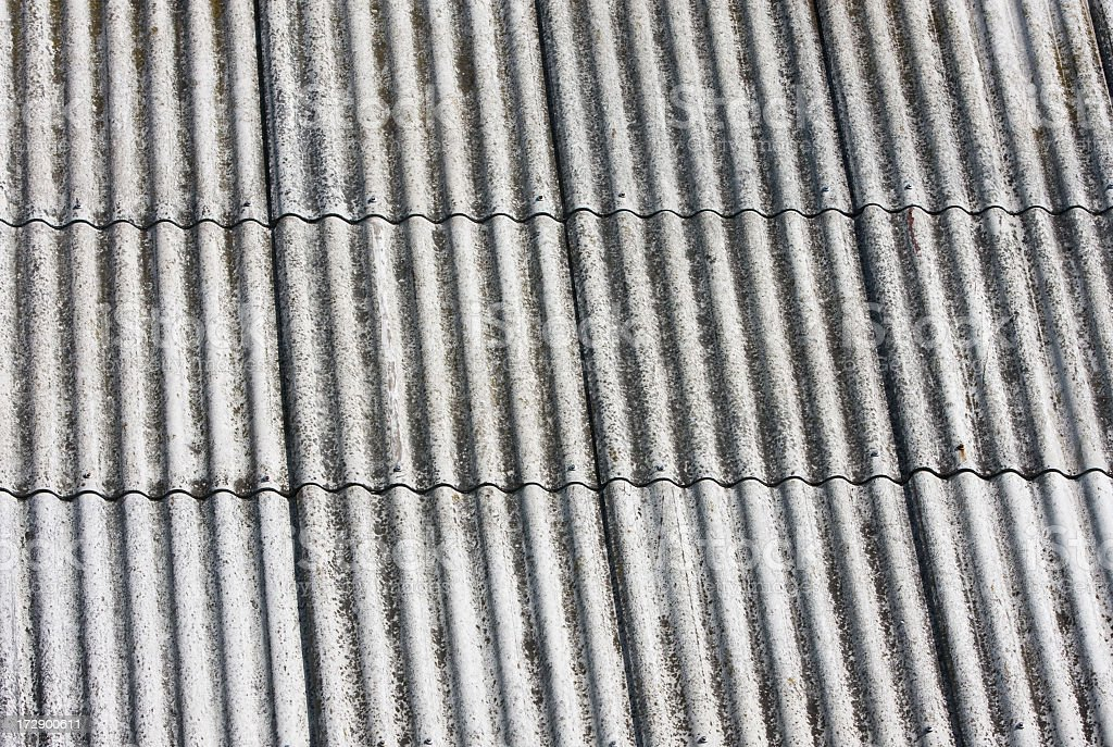 Asbestos plates, Corrugated royalty-free stock photo
