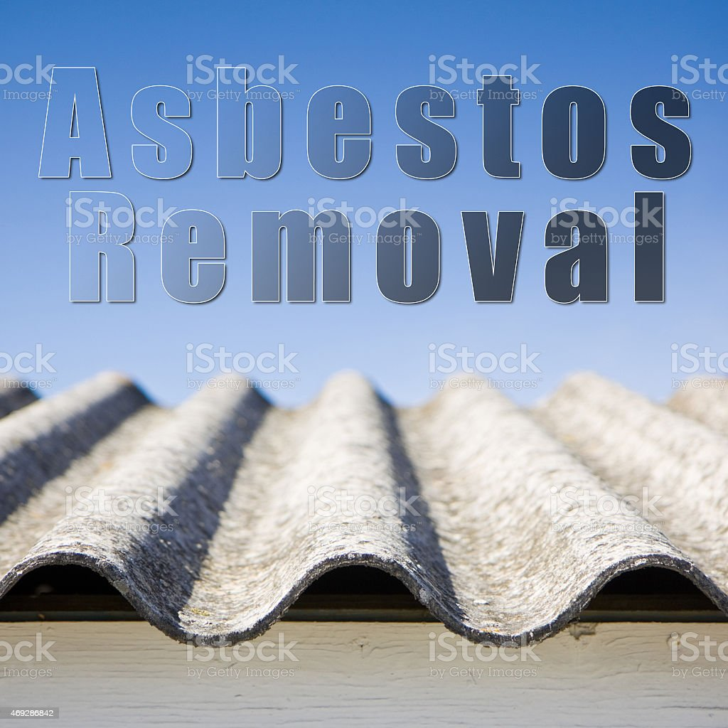 Asbestos removal concept image stock photo
