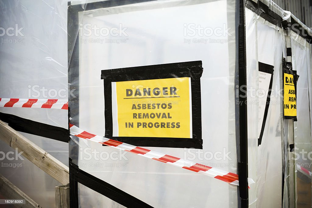 Asbestos Removal royalty-free stock photo
