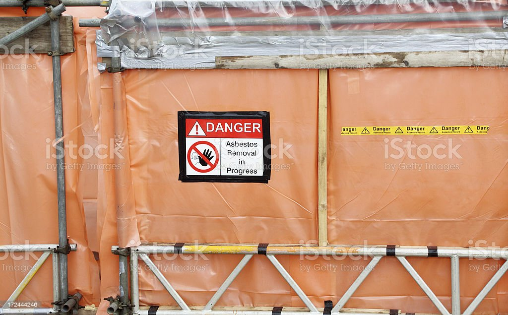 asbestos removal work area royalty-free stock photo