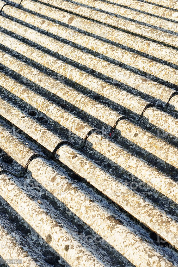 asbestos roof eternit royalty-free stock photo