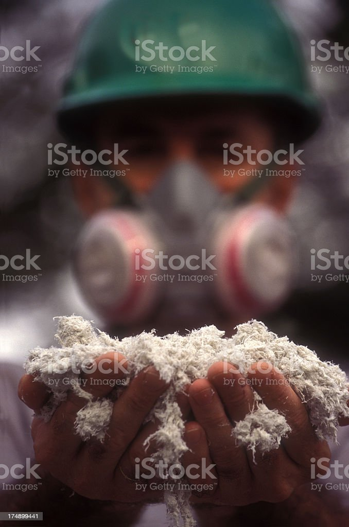 Asbestos worker stock photo