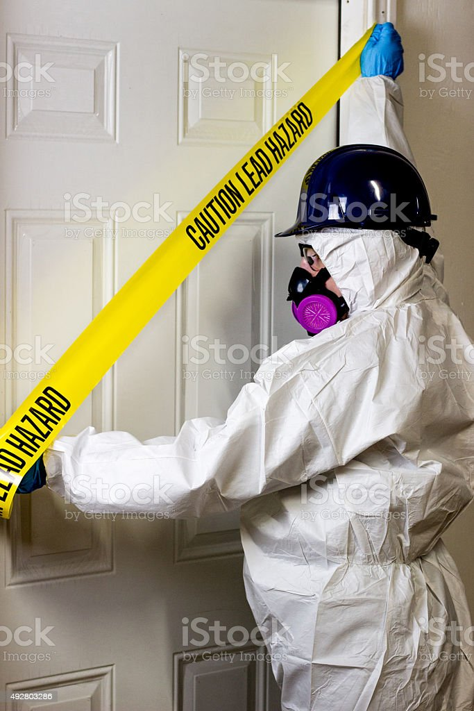 Asbestos/Mold/Lead Abatement stock photo