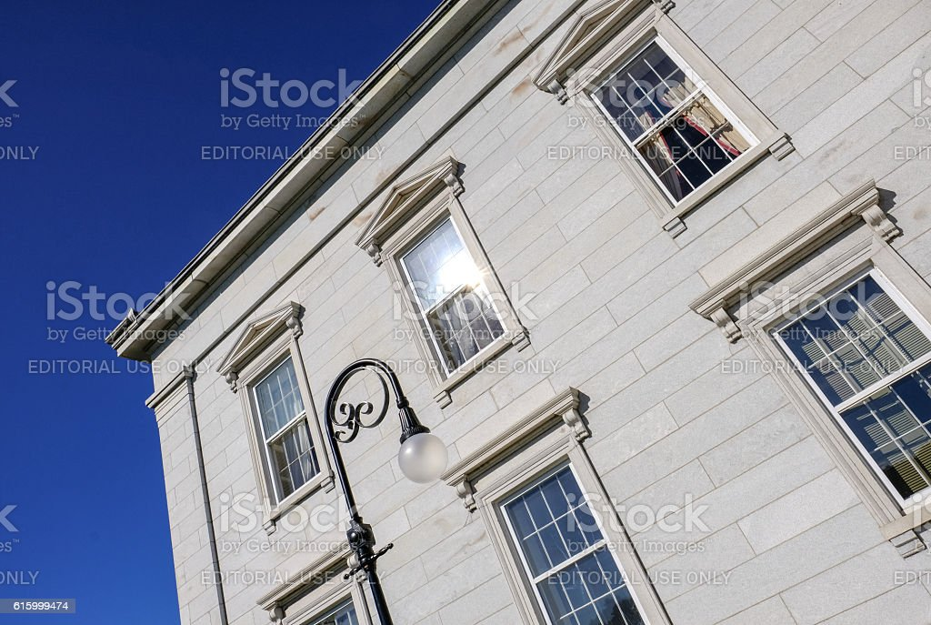 Asbtract View Of A Stonework Building in USA stock photo