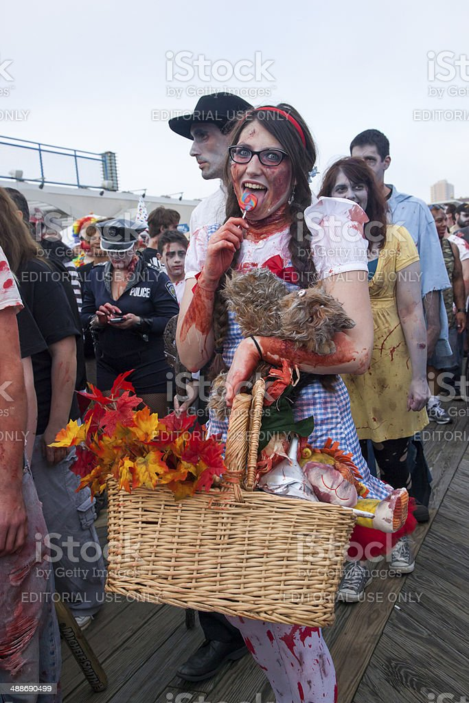 Asbury Park Zombie Walk 2013 - Dorothy and Toto stock photo