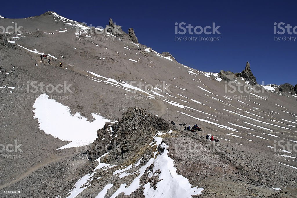 Ascending Aconcagua royalty-free stock photo