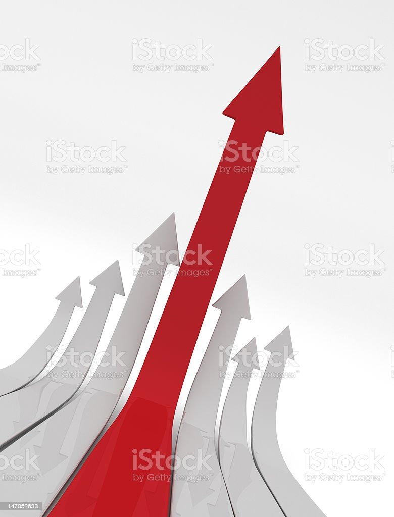 Ascending Arrows royalty-free stock photo