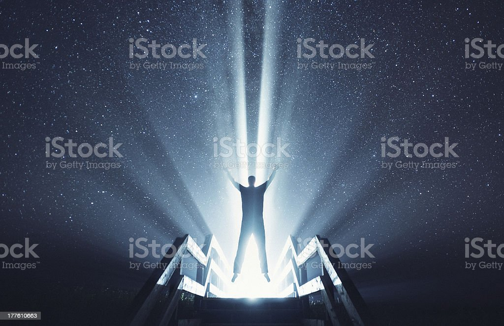 Ascending into the Stars stock photo