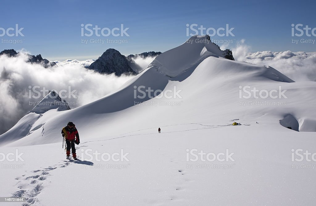 Ascending to the summit royalty-free stock photo
