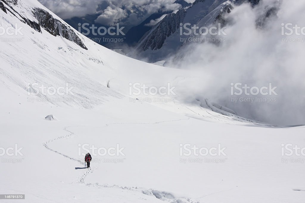 Ascending to the summit (3) royalty-free stock photo