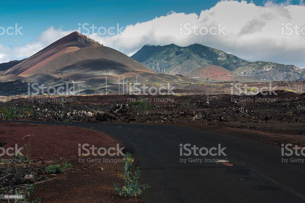 Ascension Island Radar Masts stock photo