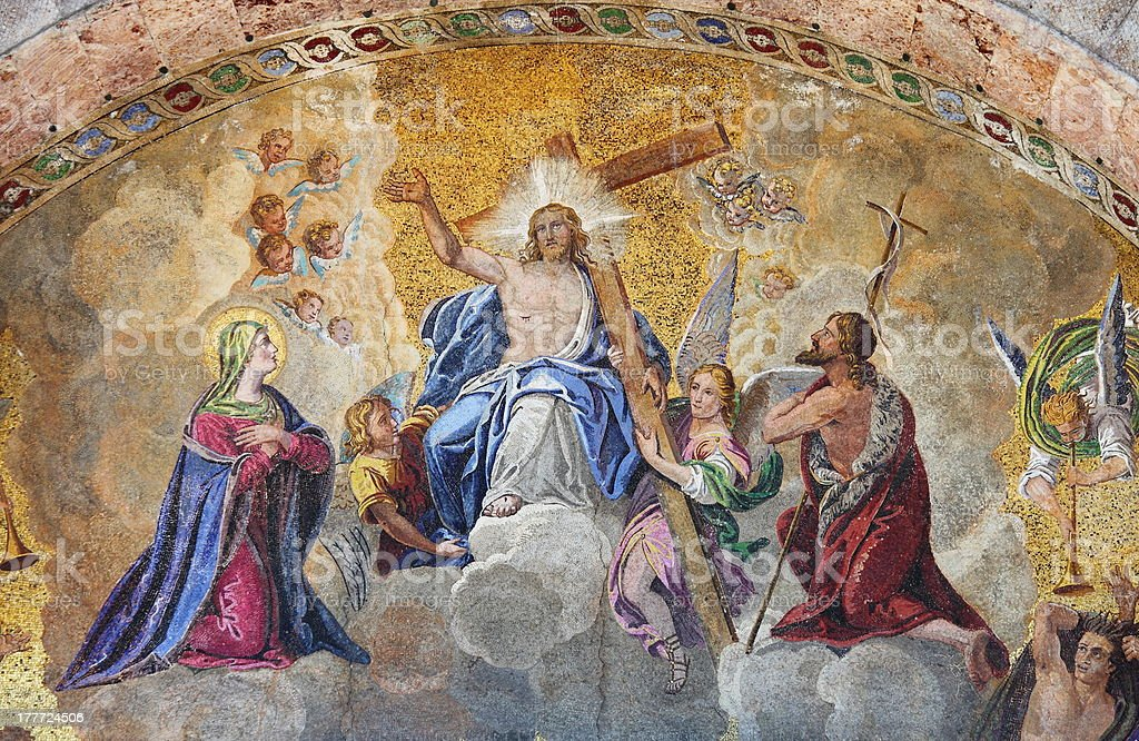 Ascension of Jesus Christ stock photo
