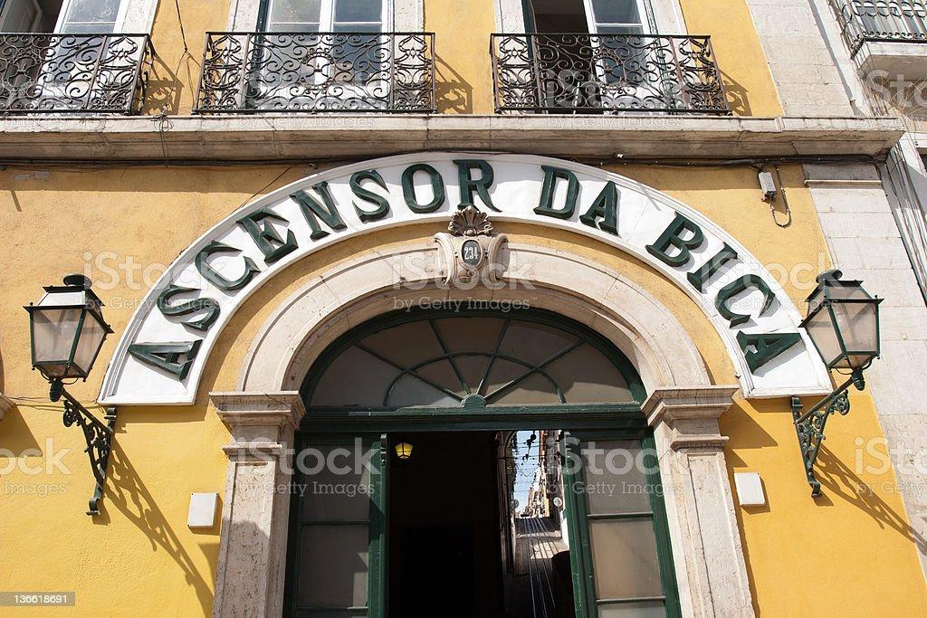 Ascensor Da Bica stock photo