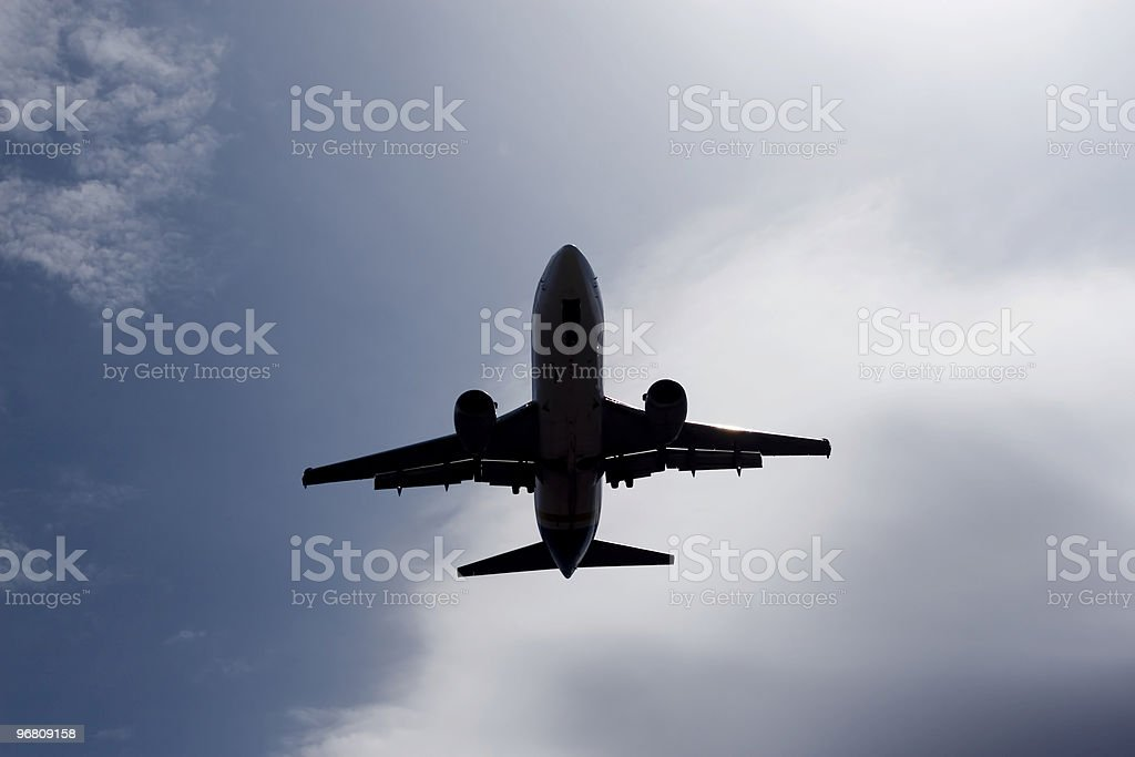 Ascent plane stock photo