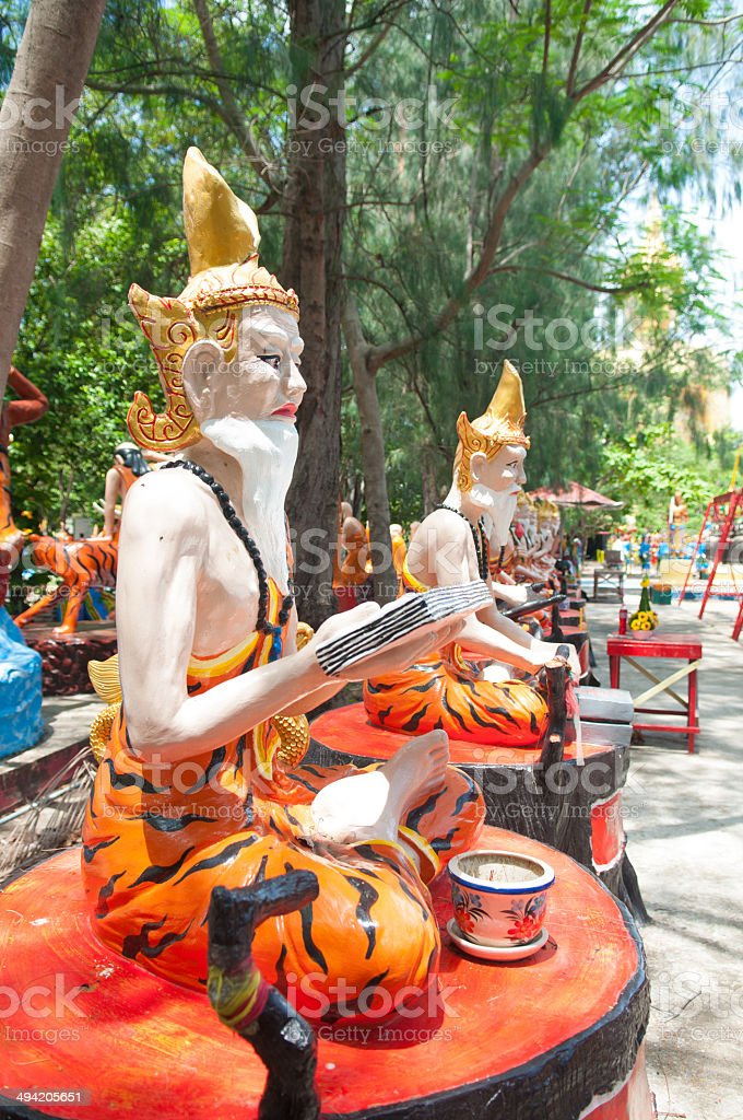 Ascetic statue at the temple, Thailand. royalty-free stock photo