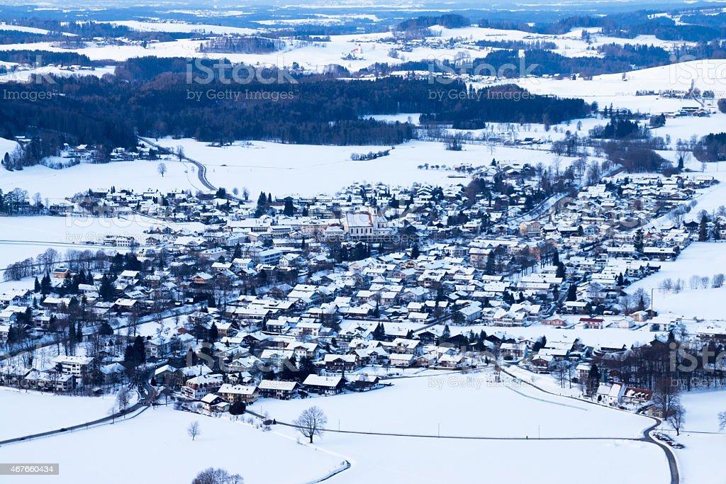 Aschau at Chiemgau, Bavaria, Germany stock photo