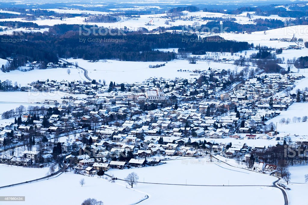 Aschau at Chiemgau, Bavaria, Germany stock photo