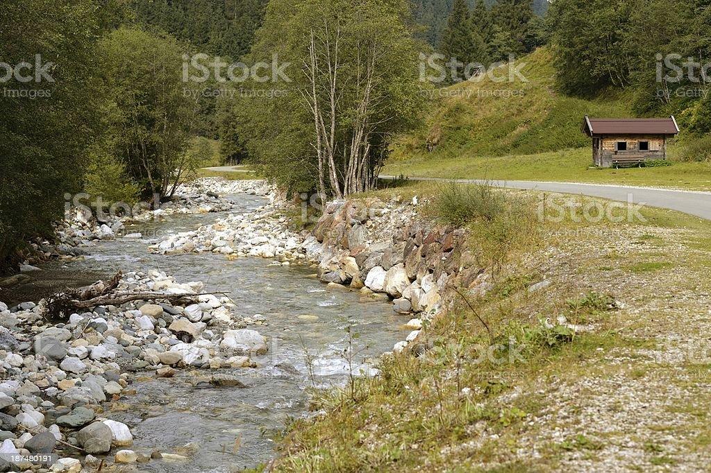 Aschau river stock photo
