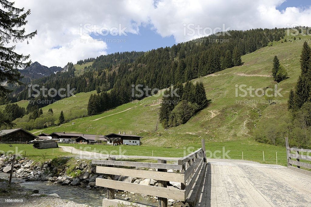 Aschau Valley in the Alps stock photo
