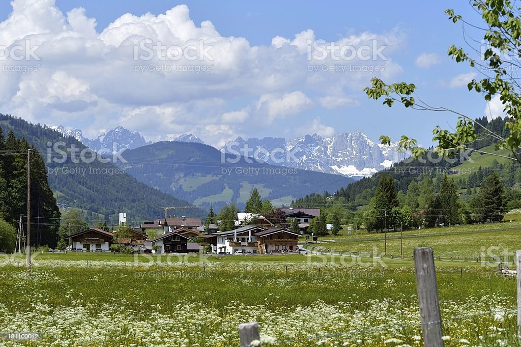 Aschau valley stock photo