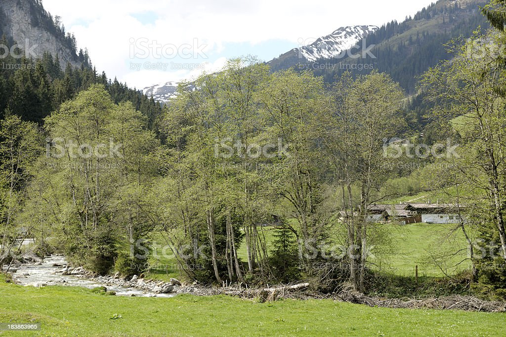 Aschauer valley stock photo