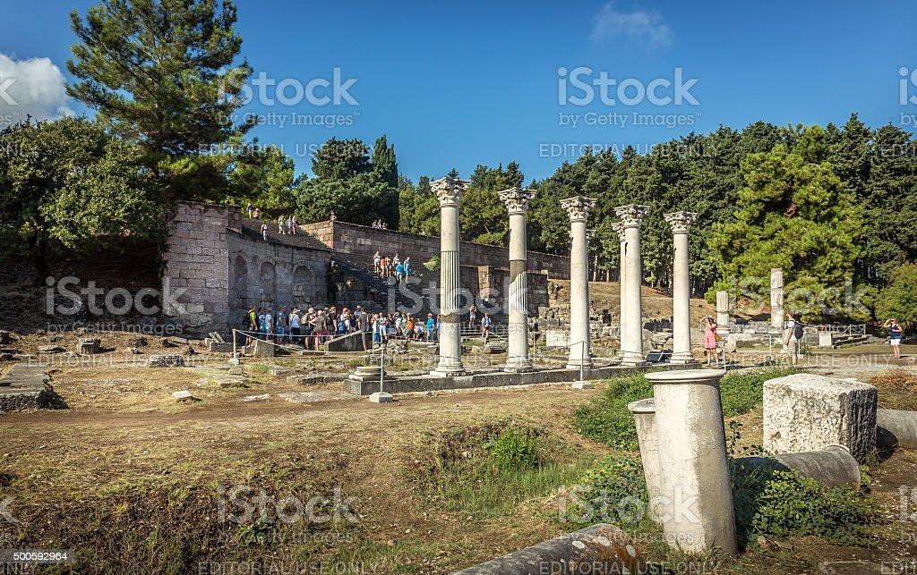 Asclepeion at Kos island, Greece stock photo