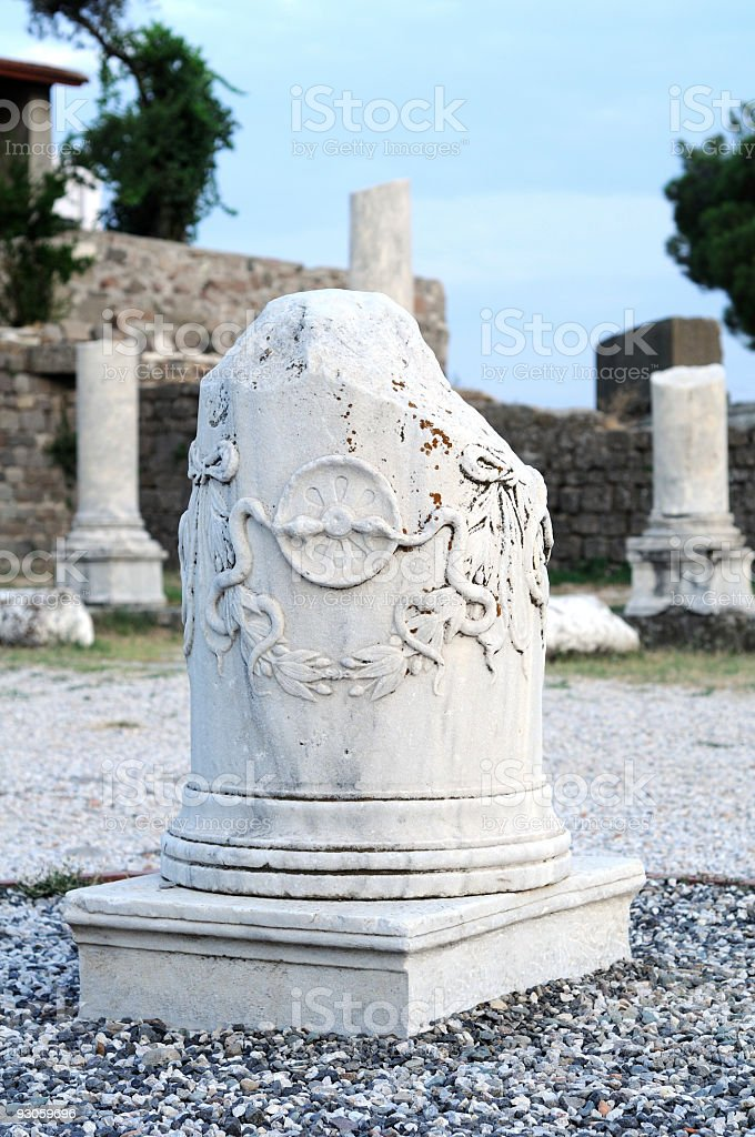 Asclepion of Pergamum (Pergamon) stock photo